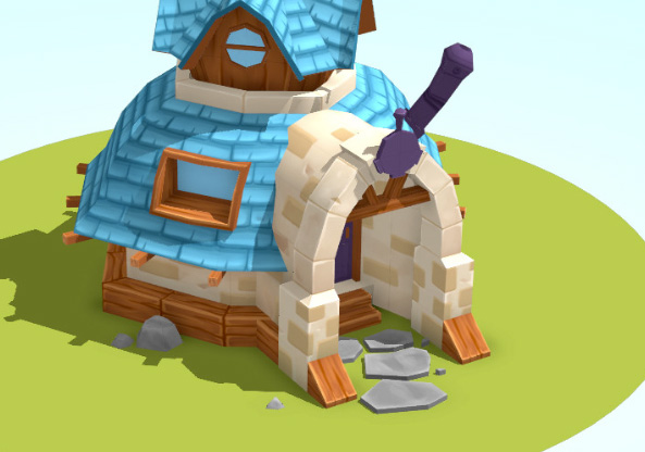 Lowpoly handpainted house for an unreleased game.
