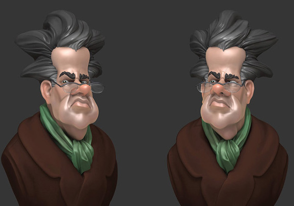 Final render for the Schoolism class Introduction to ZBrush with Michael Defeo.