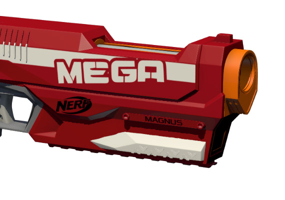 The Nerf Mega Magnus gun.