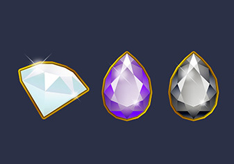Jewel icons to be used in slots games.
