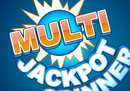 Vector logo for the slots game Multi-Jackpot Spinner.