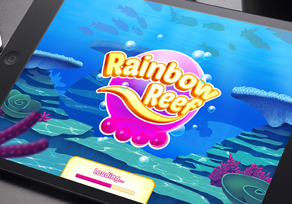 Rainbow Reef is a multi-layered match 3 game prototype where you get to swap the colors of the jellyfish to help you make matches.